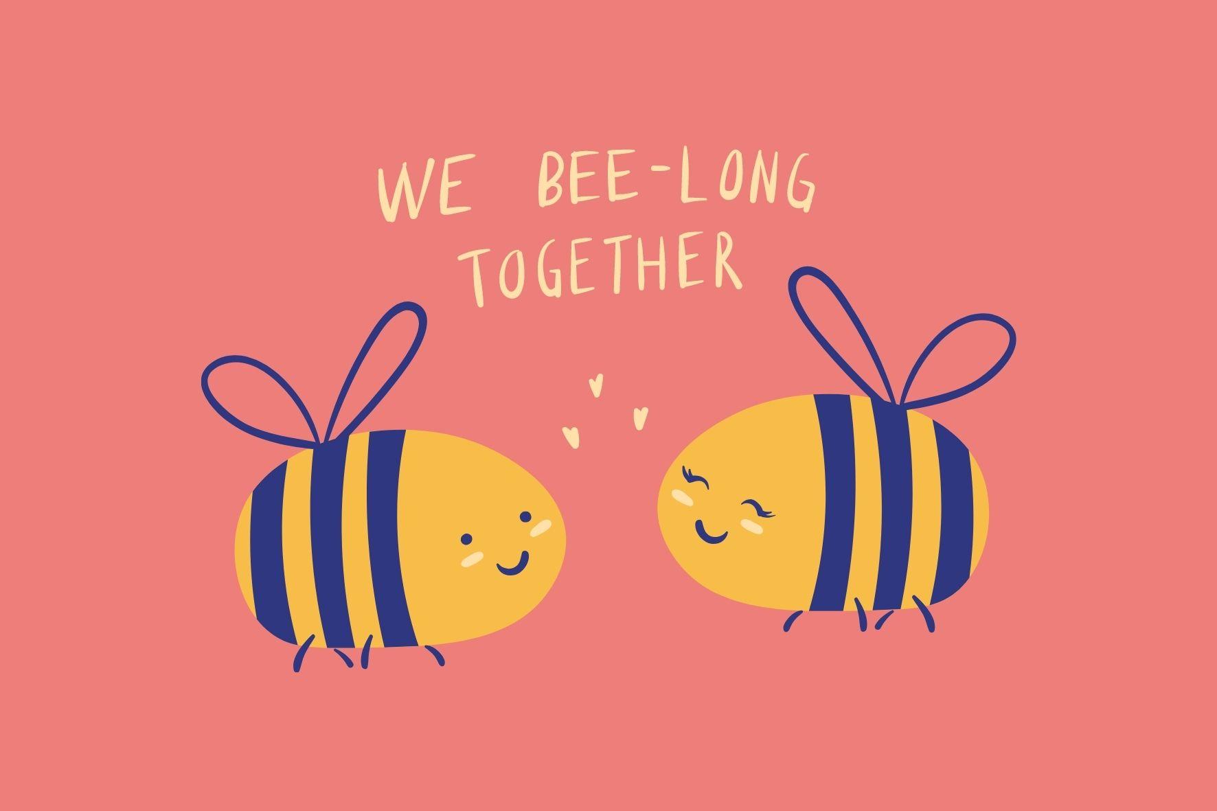 仲良くしてるミツバチ