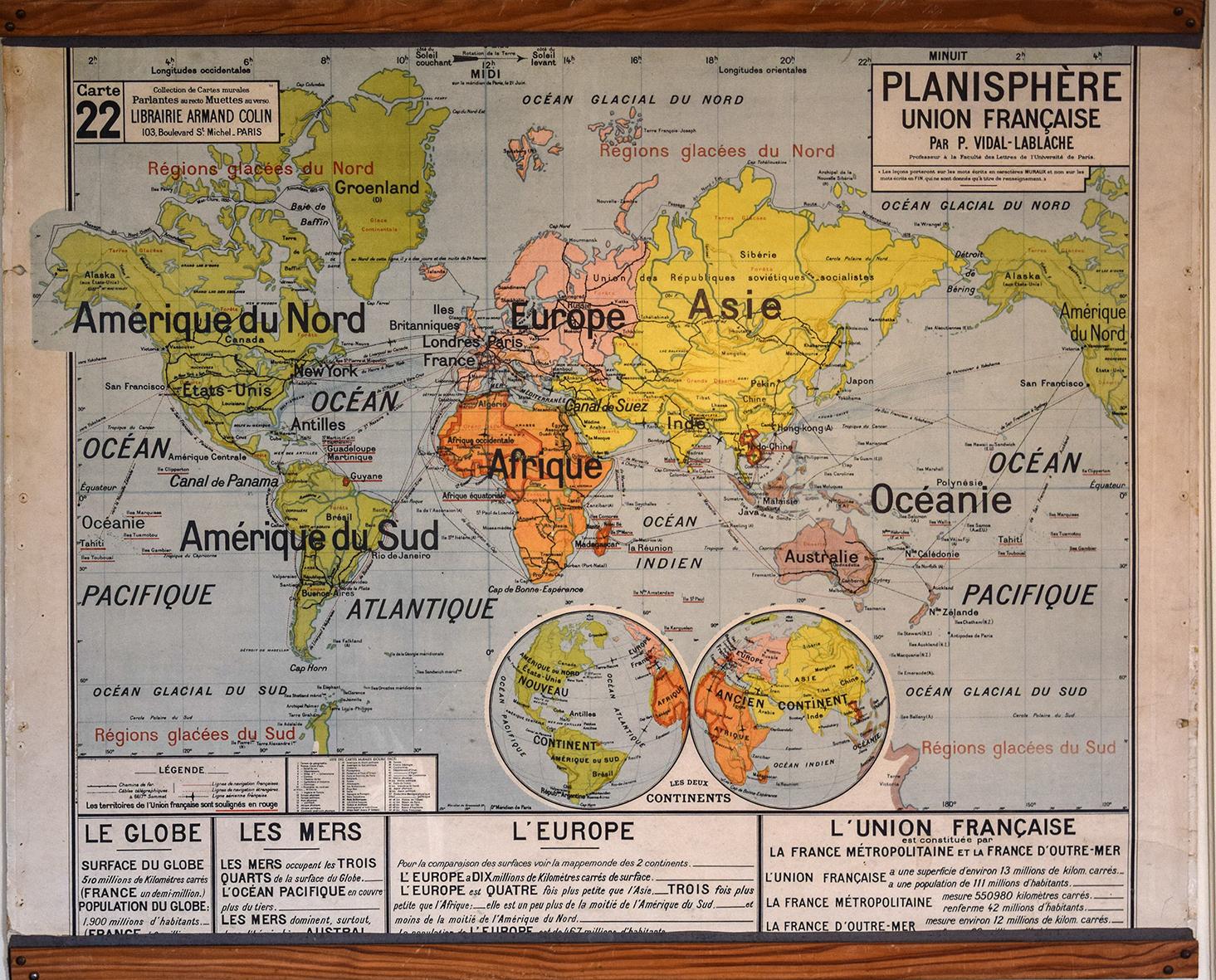 les fameuses cartes de géographie