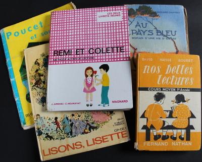 Livres scolaires: lecture, histoire, mathématiques...
