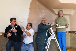 Rénovation de la peinure du vestiaire