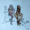 Alain Leroy,Nizza(Francia) 1945, autentica rilasciata dall'artista, archivio N°2010/001, opera N°11508, firmata in basso a destra, non incorniciata