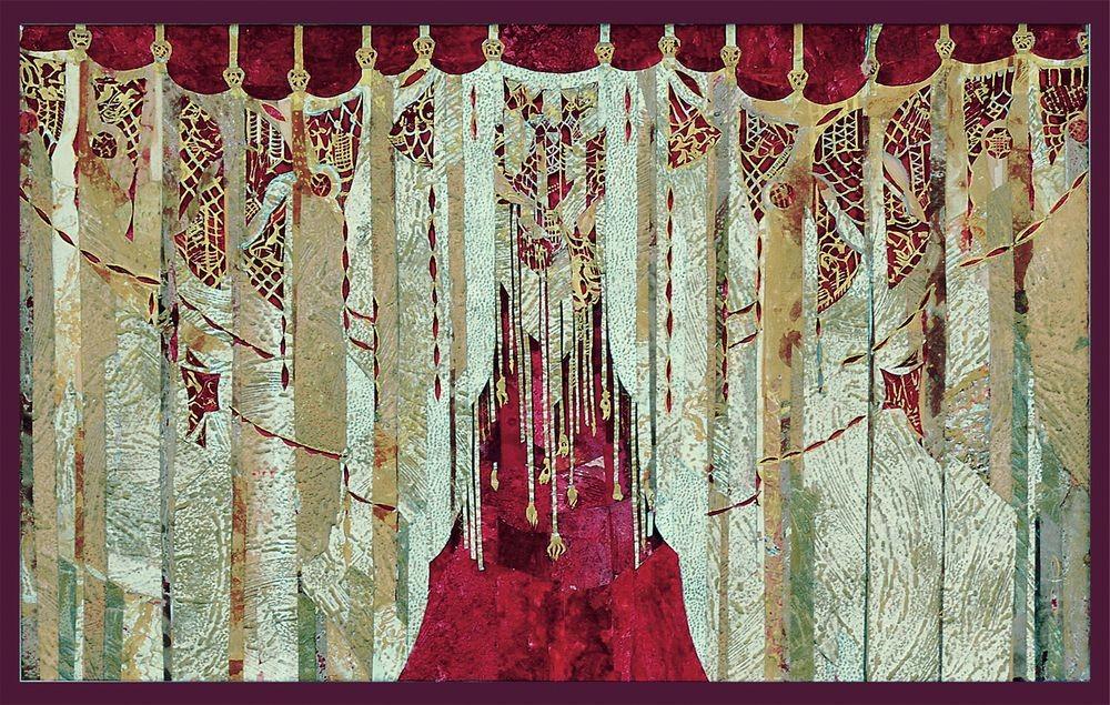 О.Попова эскиз антрактно-раздвижного занавеса основной сцены для Белгородского государственного академического драматического театра имени М.С. Щепкина  2001