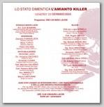 """Latina - Conferenza """"Lo Stato dimentica l'amianto killer"""""""