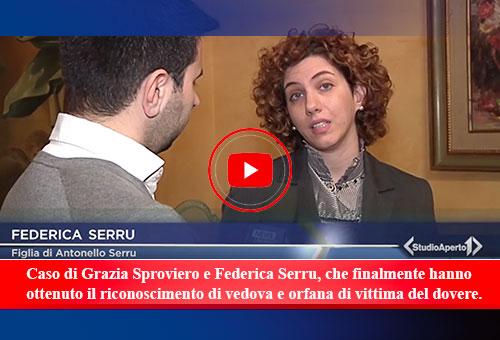 caso di Grazia Sproviero e Federica Serru - riconoscimento vedova e orfana vittima del dovere