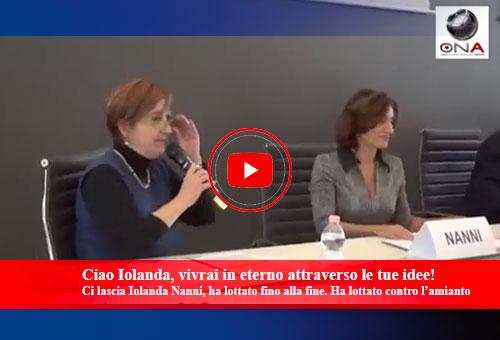 Iolanda Nanni ha lottato contro amianto