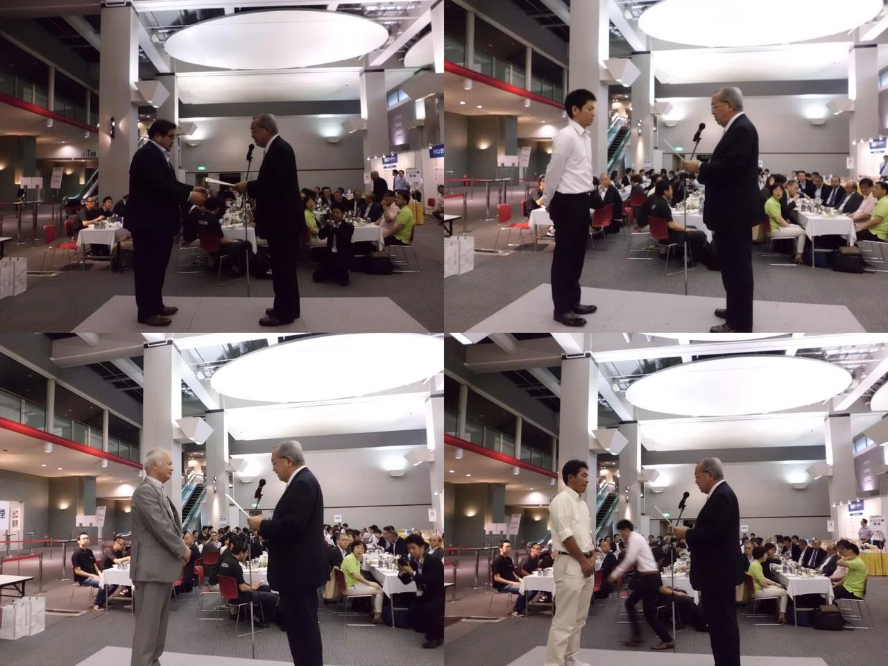 「優秀ブースデザイン賞」を受けられた(株)東京看板照明、アイケーシー(株)、明拓工業(株)、(有)今城ネオン製作所各社様