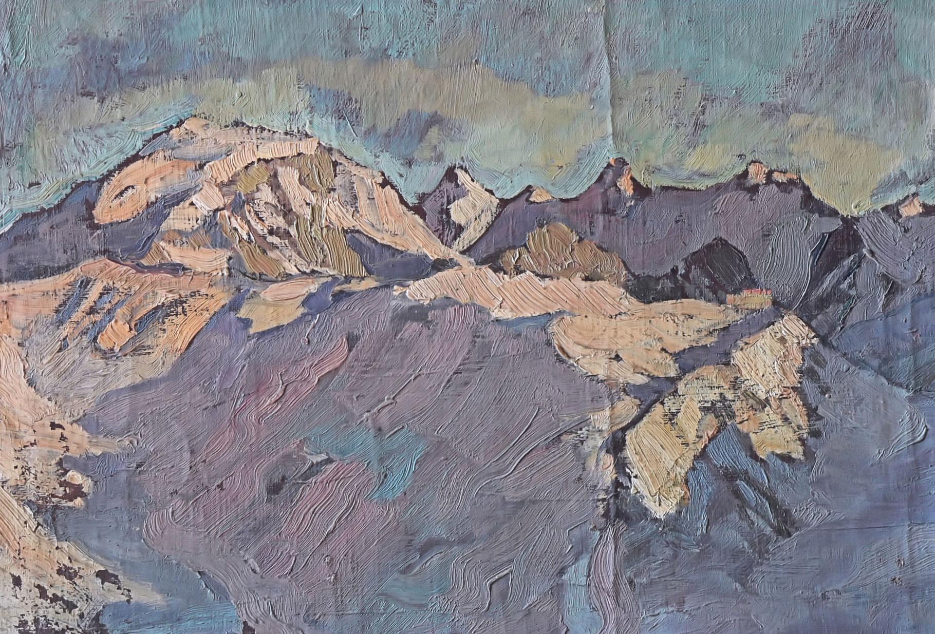 Gebirgslandschaft im Winter, um 1920