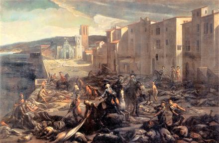 Scena della peste a la Tourette (Marsiglia), Michel Serre, 1720