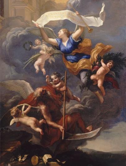Baldassarre Franceschini, Gloria di Luigi XIV che trionfa sul Tempo, 1664