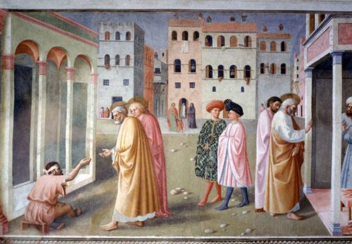 Scena dagli affreschi della Cappella Brancacci (Firenze), Masolino da Panicale