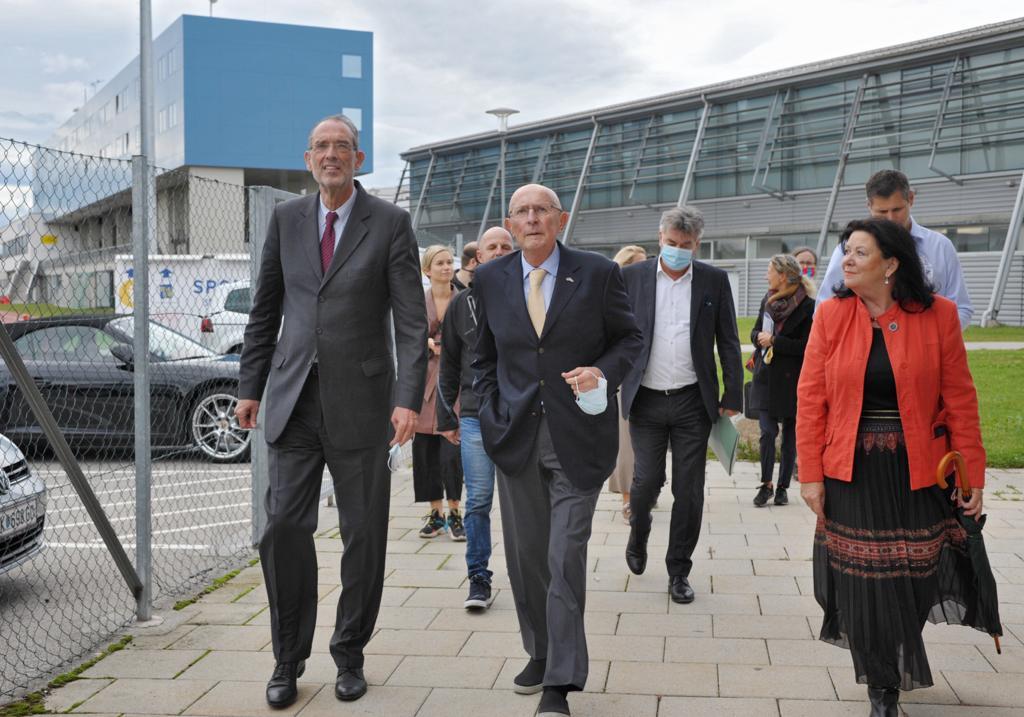 BM Dr. Werner Faßmann, NÖ SLZ Präsident Hubert Schreiner, HR Dir. Mag. Gabriele Schletz