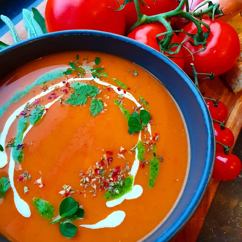 Creamy San Marzano tomato soup!