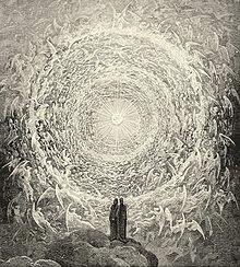 Иллюстрация к «Божественной комедии». Данте и Беатриче в раю. Гюстав Доре, XIX век