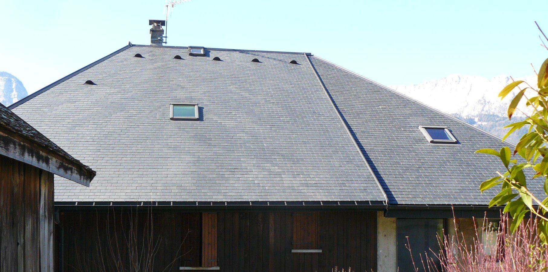 Couverture ardoises naturelles à Verthier/Doussard (74) Après