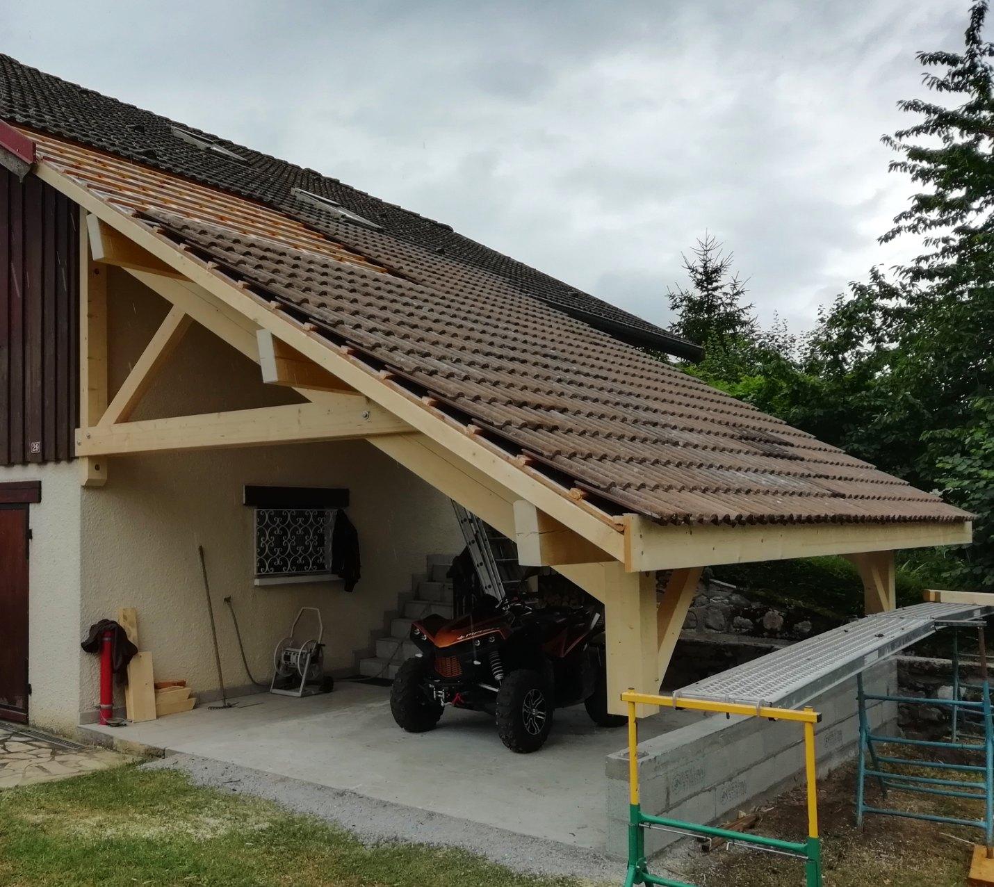 Garage ouvert à St Ferréol (74)