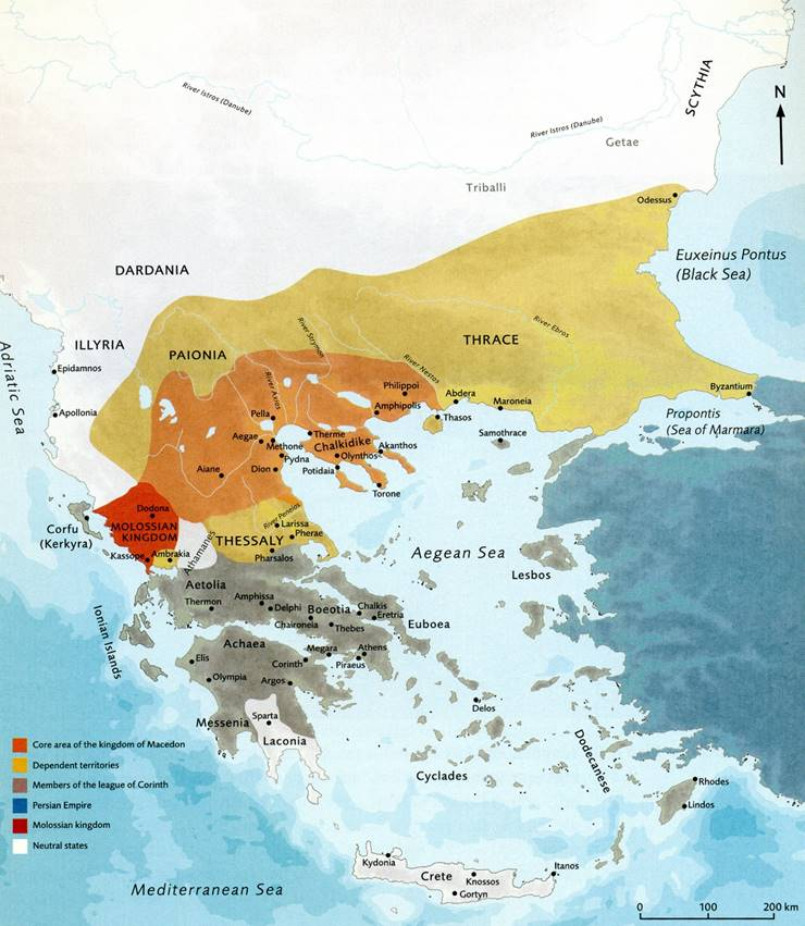 Reich Philipps II. von Makedonien (Vater von Alexander dem Großen) (Archiv Hölscher)