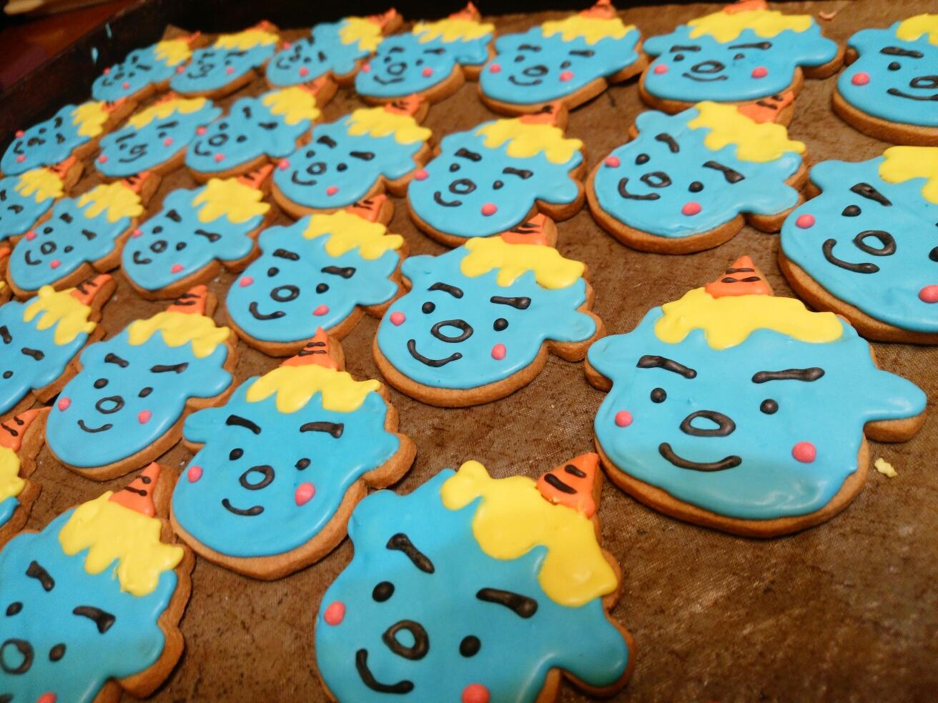 節分、鬼さんクッキー