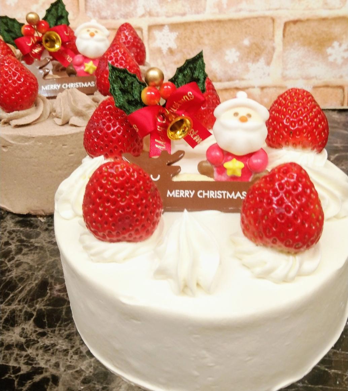 生イチゴ、生チョコケーキ