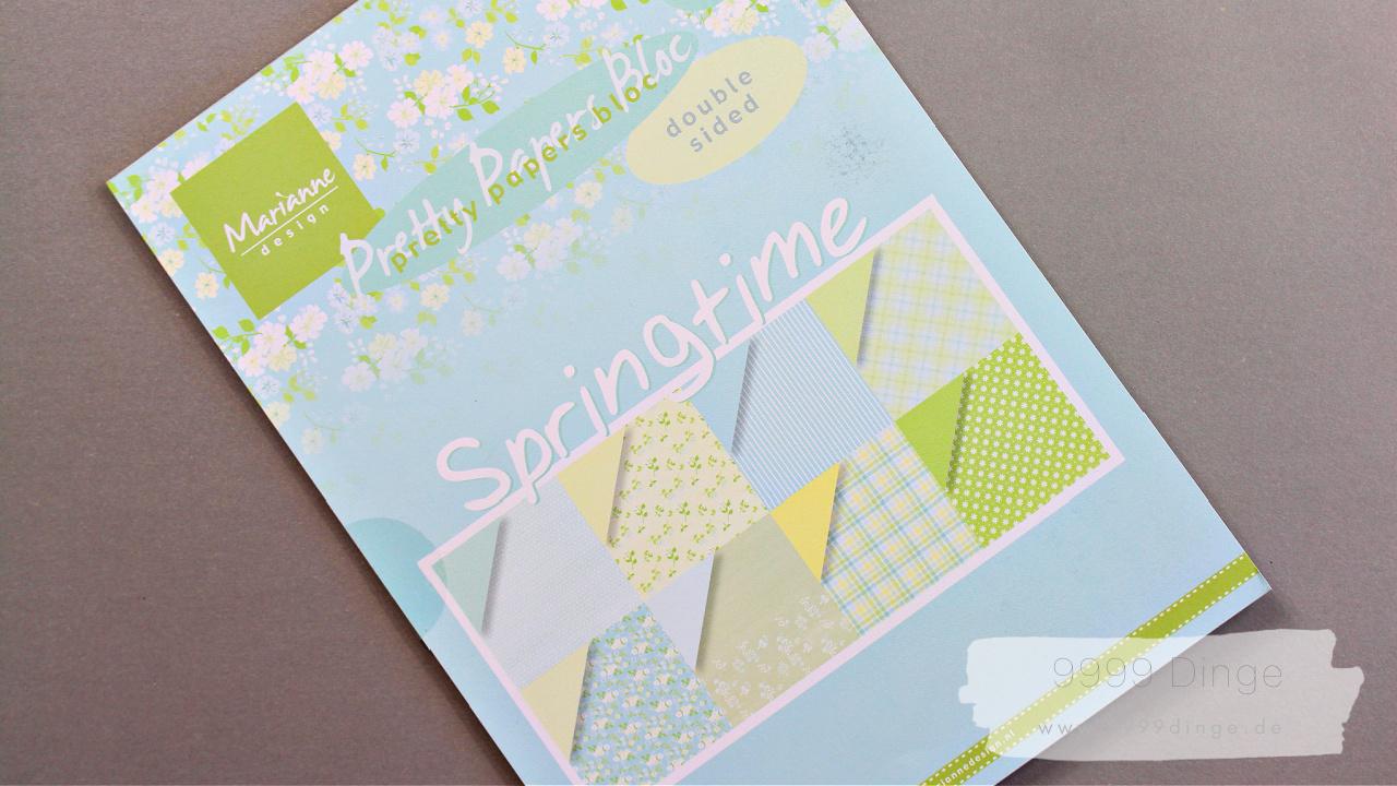 Marianne design - Pretty Paper Bloc - Springtime - Bastelpapier - Bastelbedarf - A4