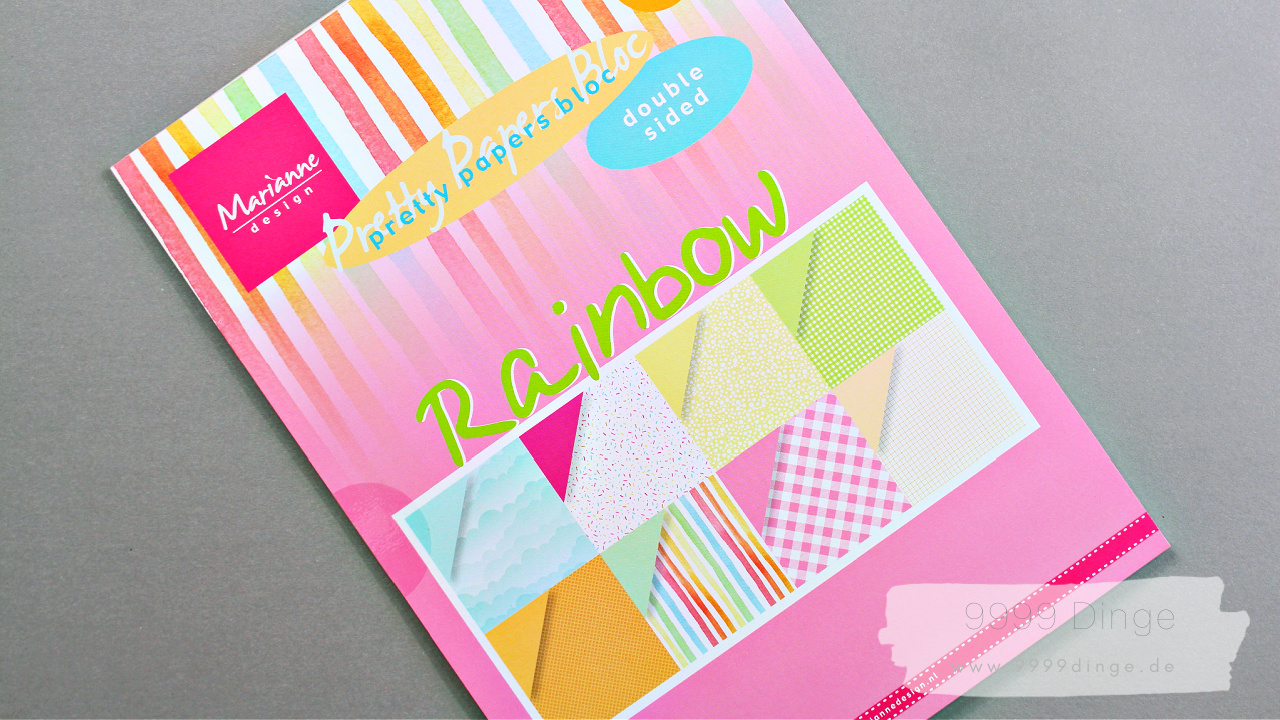 Marianne design - Pretty Paper Bloc - Rainbow - Bastelpapier - Bastelbedarf - A4