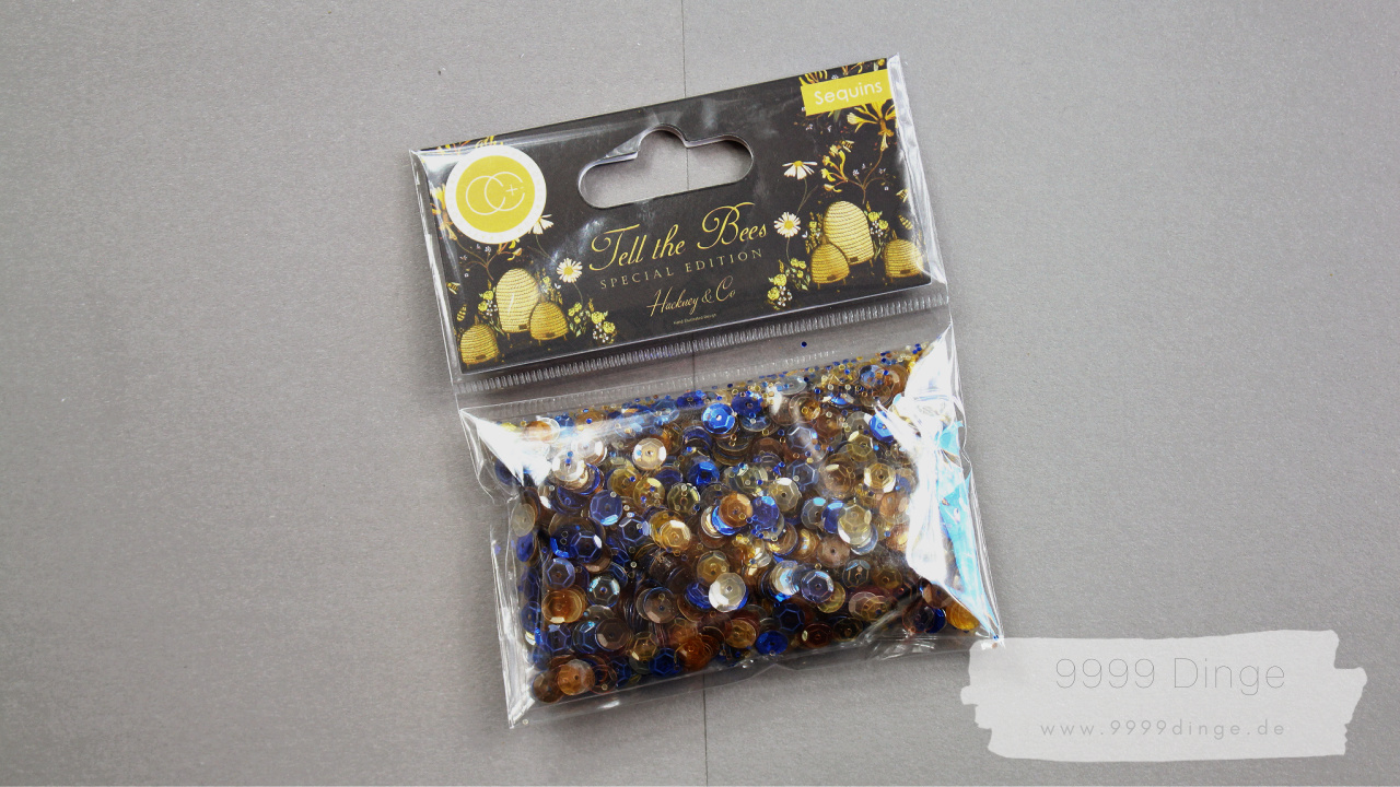 Craft Consortium - Tell the Bees - Special Edition - Sequins - Pailetten - Bastelbedarf