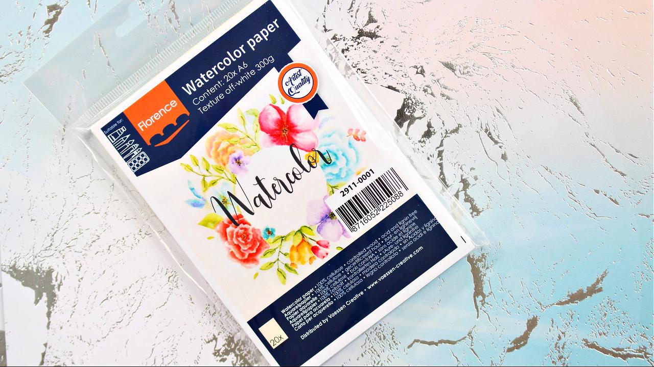Vaessen Creative - Watercolor Paper - Aquarellpapier - A6 - Florence - Bastelbedarf