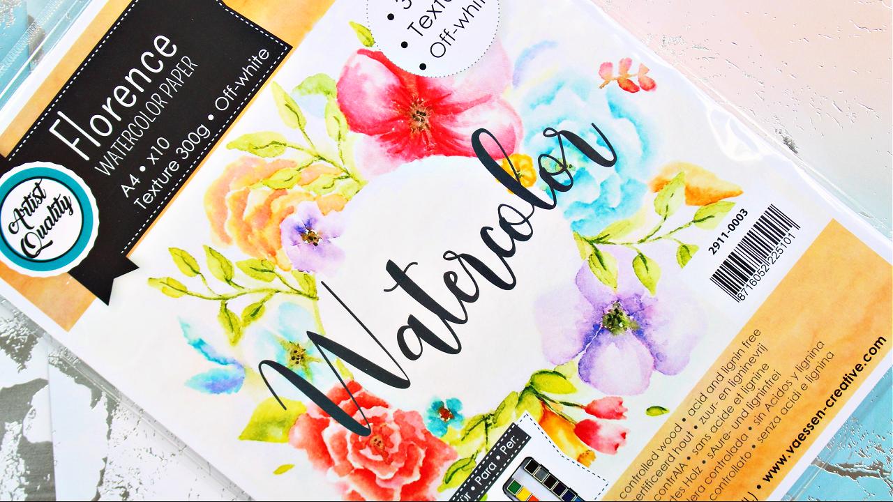 Vaessen Creative - Watercolor Paper - Aquarellpapier - A4 - Florence - Bastelbedarf