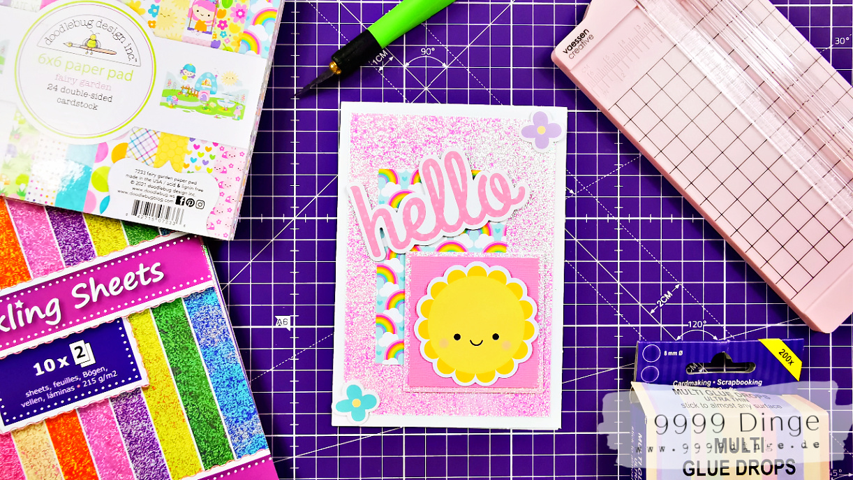 Sonnige Grüße - Karten selber basteln - Bastelidee #4