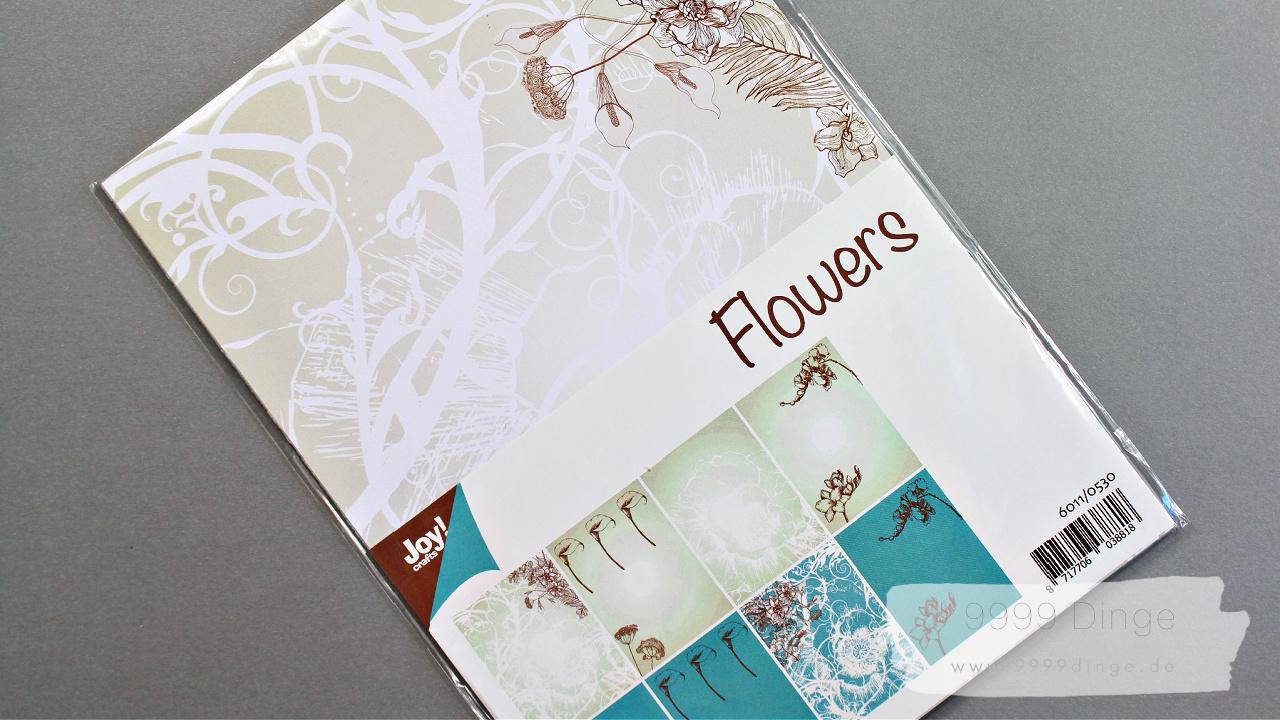 Joy!Crafts - Bastelpapier - Flowers - Bastelbedarf - A4