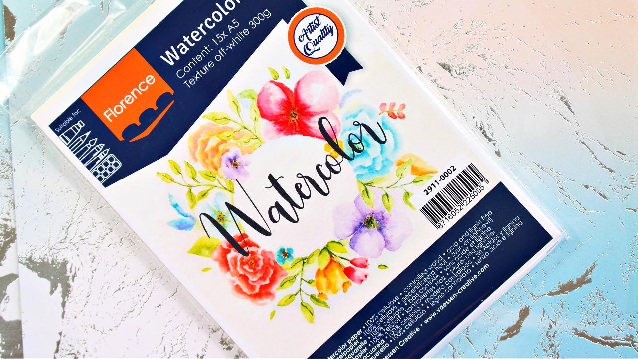Vaessen Creative - Watercolor Paper - Aquarellpapier - A5 - Florence - Bastelbedarf
