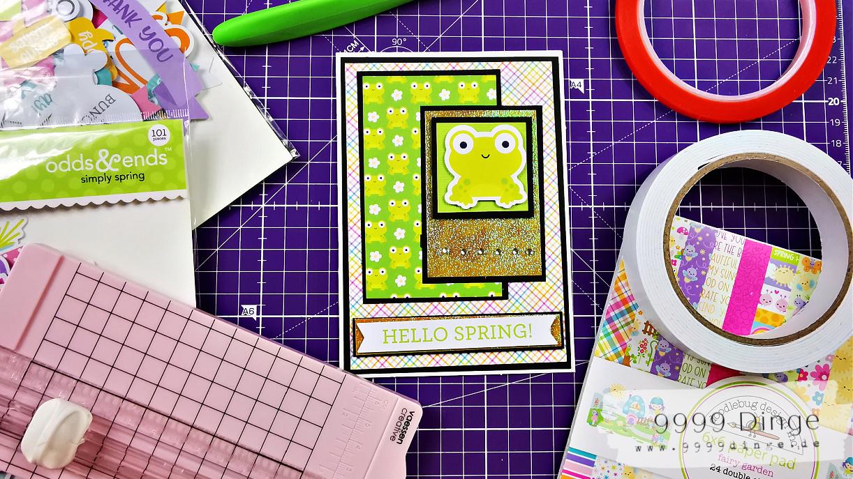 Es wird froschig - Karten selber basteln - Bastelidee #7
