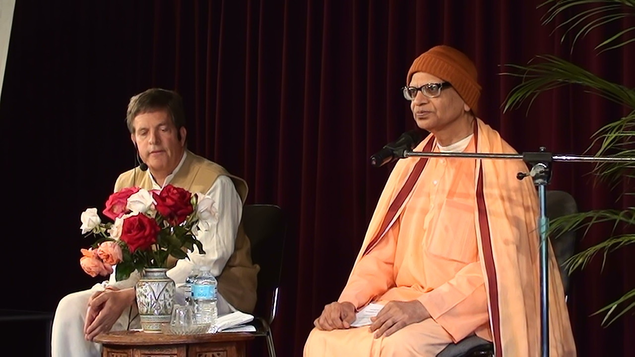Swami Dayatmananda avec Bill Walker