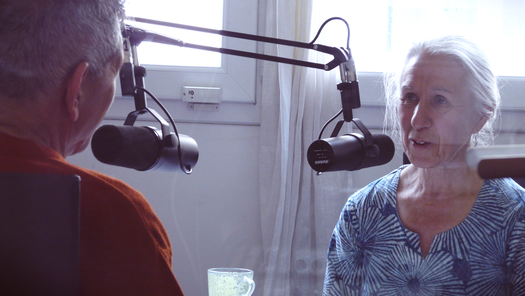 Martine lors de l'entretien avec swami Veetamohananda
