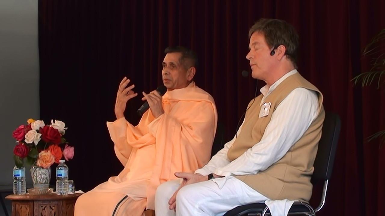 Swami Veetamohananda avec Bill Walker