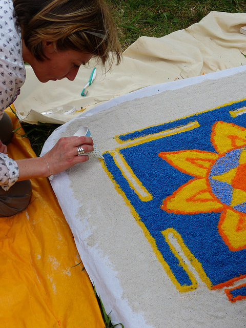 Catherine Chesnay trad. Satyananda Saraswati - Création d'un Mandala au jardin japonais