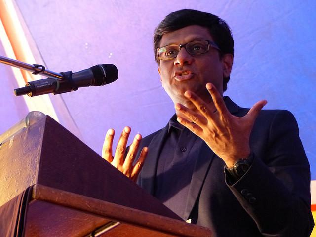 L'ambassadeur de l'Inde son Excellence Dr Mohan Kumar - Inauguration sous le chapiteau
