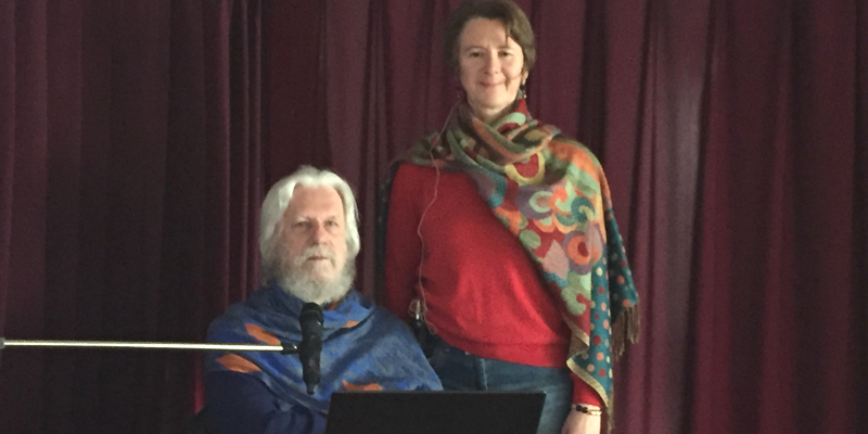 Bhakraraj et le Dr. Lise Queguiner