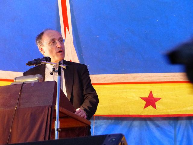 L'adjoint au maire Christian Bourdeil Inauguration sous le chapiteau