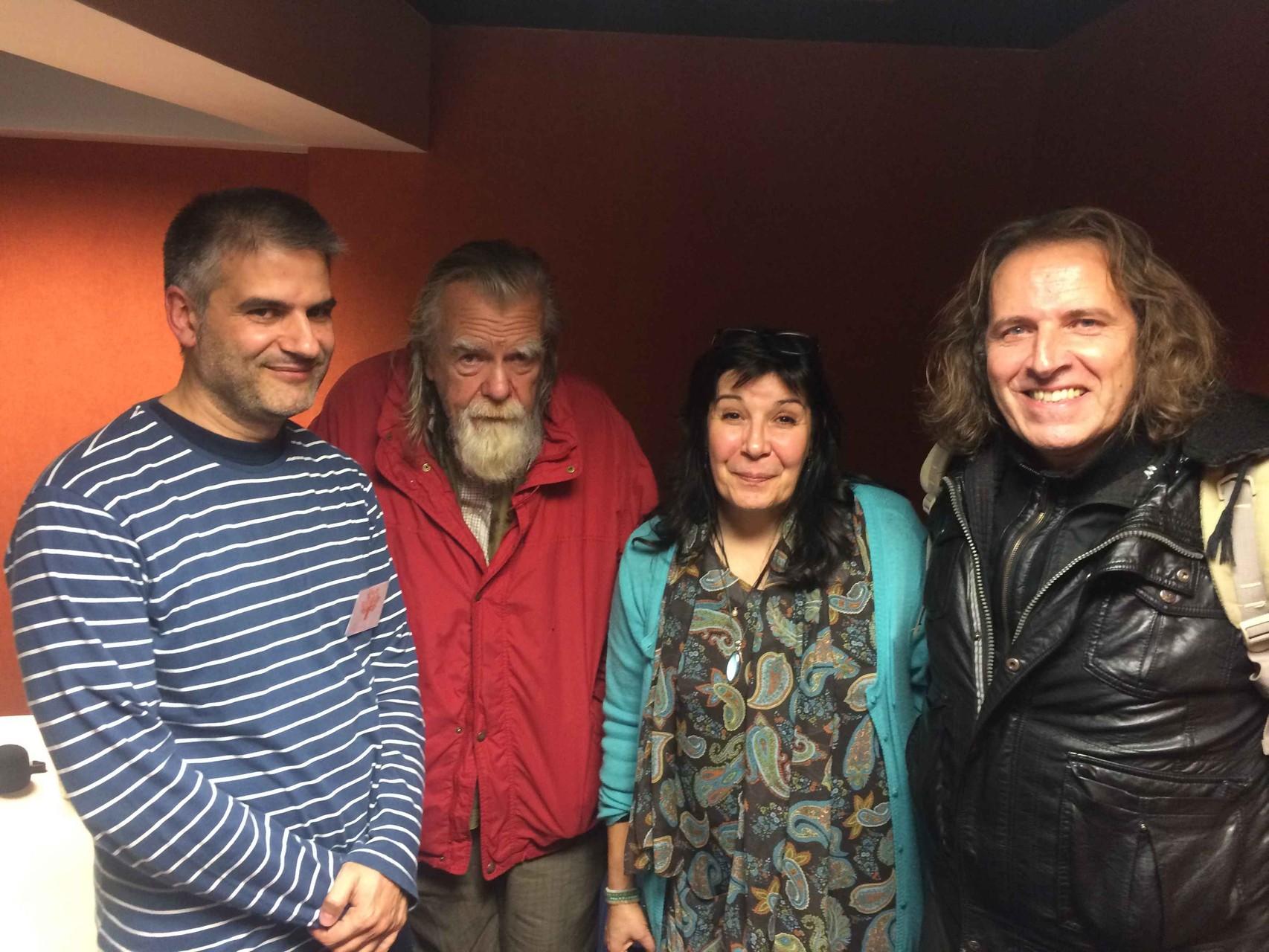 Jorge avec Michael Lonsdale, Pakoune et Michel Garnier
