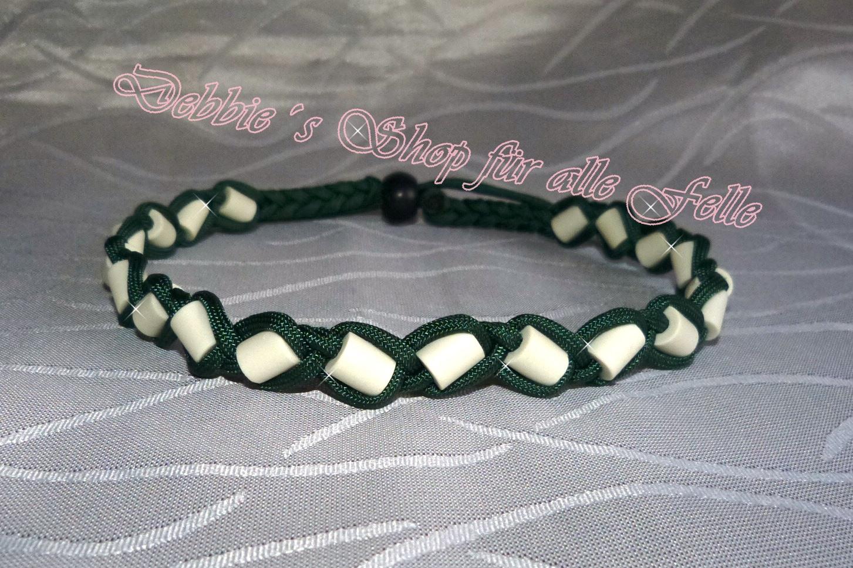 emerald green mit Kordelverschluss - Halsumfang 46 cm - 19,- Euro
