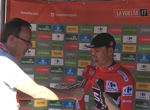 Avec Christopher Froome sur la Vuelta