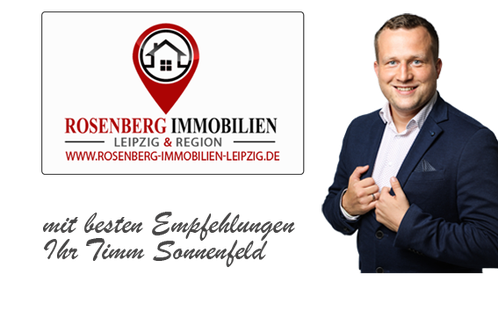 Hier sehen Sie das Bild des Geschäftsführers der Rosenberg Immobilien Leipzig. Als Immobilienmakler in Taucha sind wir für Ihre Belange da. Mit sonnigen Grüßen Timm Sonnenfeld