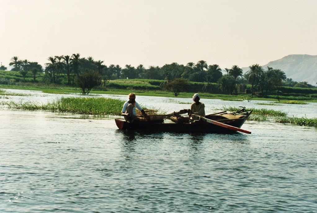 Le Nil, Isna, Egypte 1996