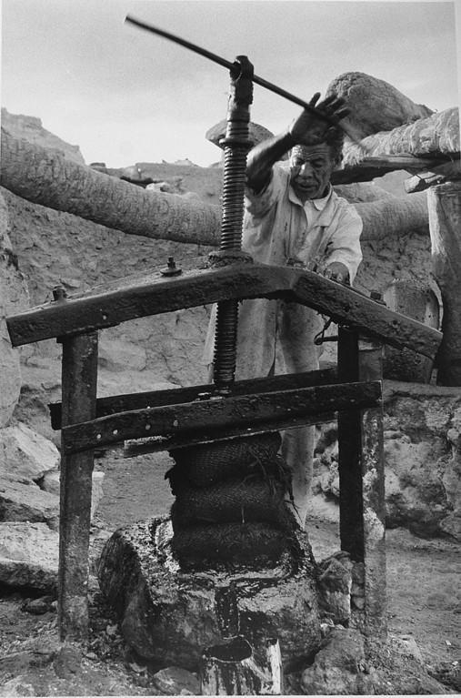 Presse pour huile d'olive, Oasis de Siwa, Egypte 1996