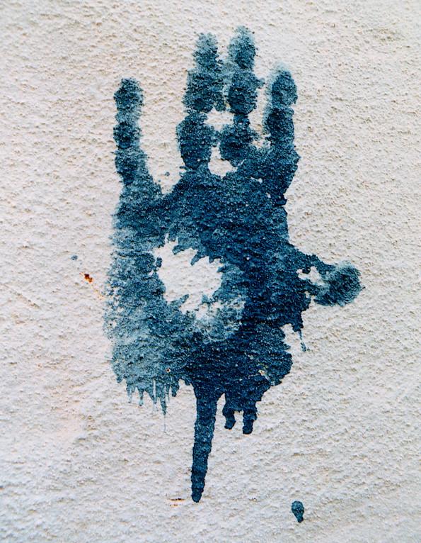 La main de Fatima, oasis de Dakhla, Egypte 1996