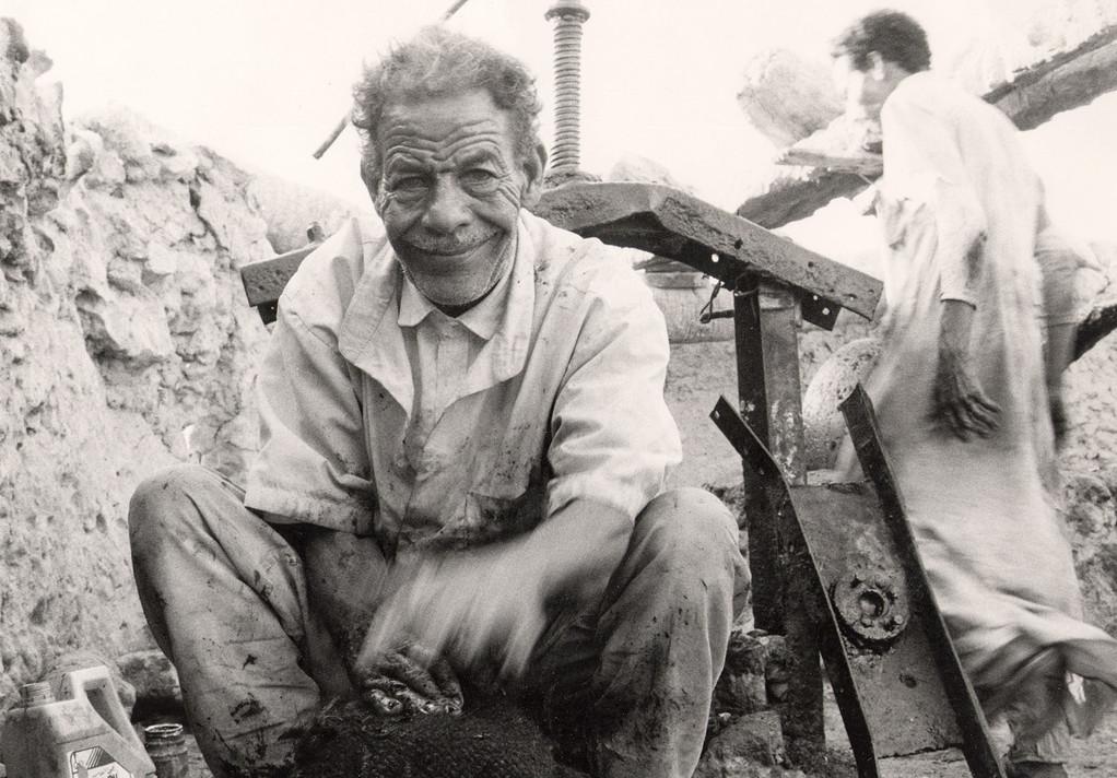 Producteur d'huile d'olive, Oasis de Siwa, Egypte 1996