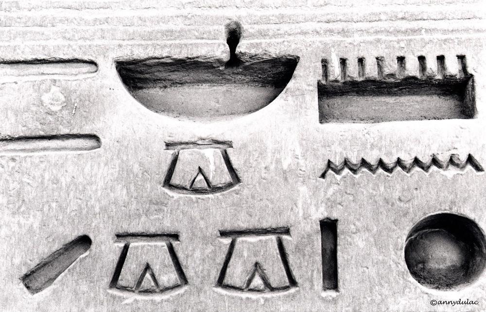 Hiéroglyphe, Egypte 1996