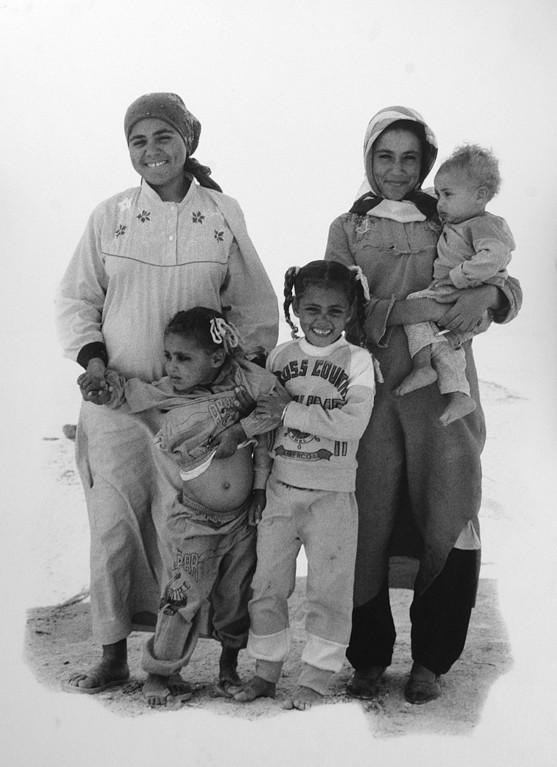 Sur la route de Farafra, désert blanc, Egypte 1996