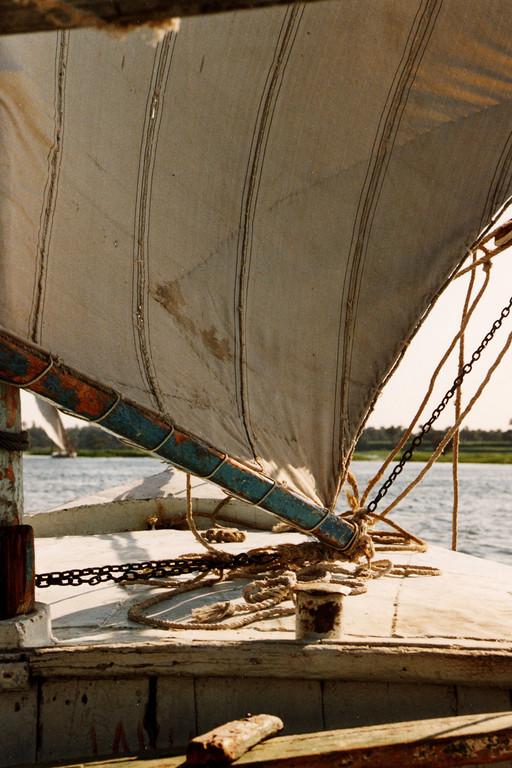 Felouque sur le Nil, Egypte 1996