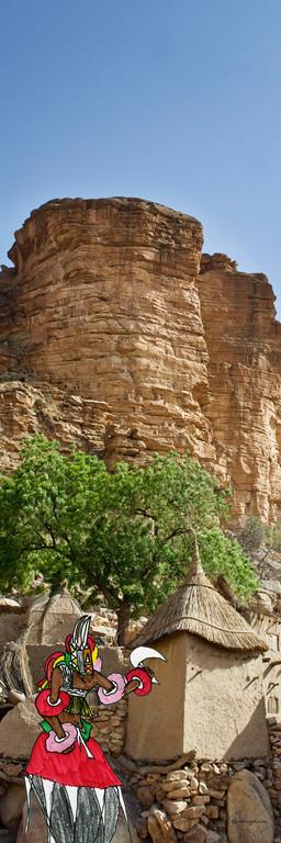 La falaise de Bandiaguara, Pays Dogon, Mali 2007